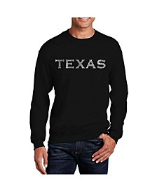 Big & Tall Men's Word Art Don't Mess With Texas Crewneck Sweatshirt