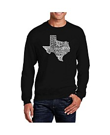 Big & Tall Men's Word Art The Great State of Texas Crewneck Sweatshirt