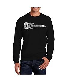 Men's Word Art Rock Guitar Crewneck Sweatshirt