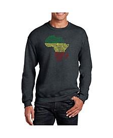 Men's Word Art Countries In Africa Crewneck Sweatshirt