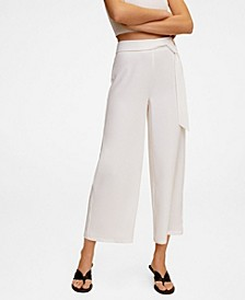 Women's Belt Culottes Trousers