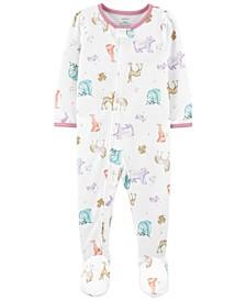 Toddler Girls 1-Piece Loose Fit Footie Pajamas