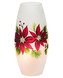 Light Up Poinsettia Oblong Vase (66% Off) -- Comparable Value $44