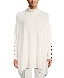 Dropped-Shoulder Turtleneck Sweater