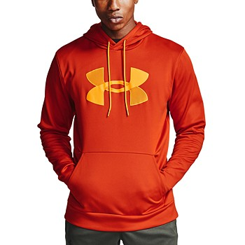Under Armour Men's Fleece Big Logo Hoodie (S/M/L/XL) (Orange)
