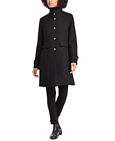 Lauren Ralph Lauren Single-Breasted Wool Walker Coat