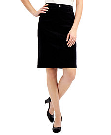 Charter Club Velveteen Pencil Skirt, Created for Macy's