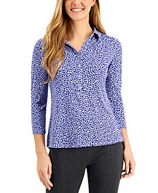 Heart-Print Polo, Created for Macy's