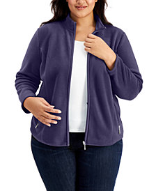 Karen Scott Plus Size Zeroproof Jacket, Created for Macy's