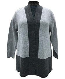 Plus Size Colorblocked Cardigan, Created for Macy's