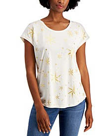 Holiday Graphic-Print Top, Created for Macy's