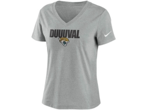 Nike Jacksonville Jaguars Women's Local Tri-Blend V-neck T-Shirt