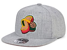 Seattle SuperSonics Hardwood Classic Team Heather Fitted Cap