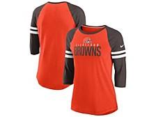 Nike Cleveland Browns Women's Three-Quarter Sleeve Raglan Shirt