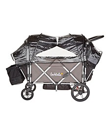 Caravan Wagon Stroller with Rain and Wind Cover
