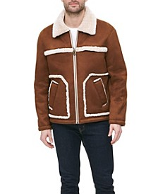 Men's Big and Tall Faux Shearling Ranchers Jacket, Created for Macy's