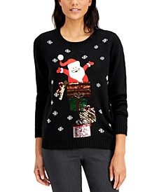 Sequin Santa's Gift Sweater, Created for Macy's