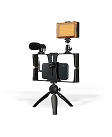All-in-One Vlogging Tripod Kit with Light and Mic, TPDL900B