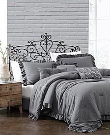 Davina Enzyme Ruffled 6 Piece Comforter Set, Queen