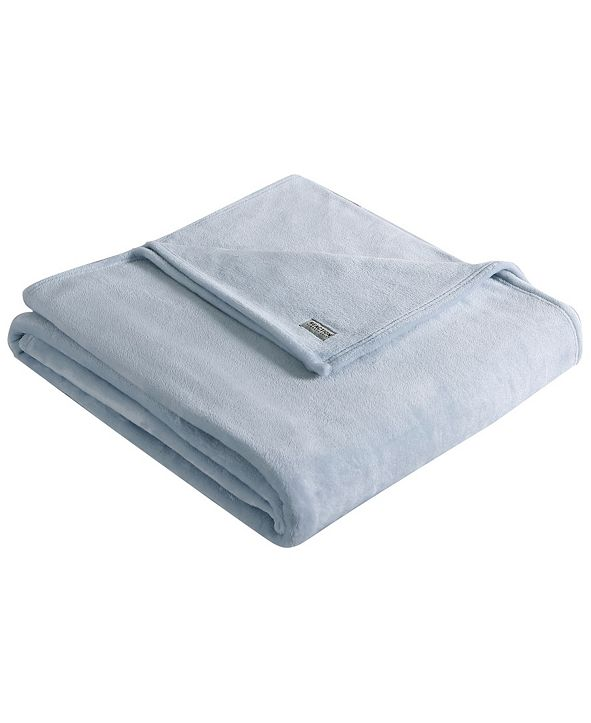 Kenneth Cole Solid Ultra Soft Plush Full/Queen Blanket