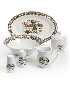 Christmas Toile 7-pc Accessory Set (62% Off) -- Comparable Value $39.95