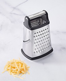 Stainless Steel Box Grater with Storage