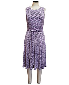 Paisley-Print Tie-Waist Midi Dress, Created for Macy's