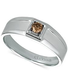 Chocolatier® Men's Chocolate Diamond Ring (1/5 ct. t.w.) in 14k White Gold
