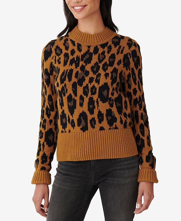 Lucky Brand Leopard-Print Wide-Hem Sweater
