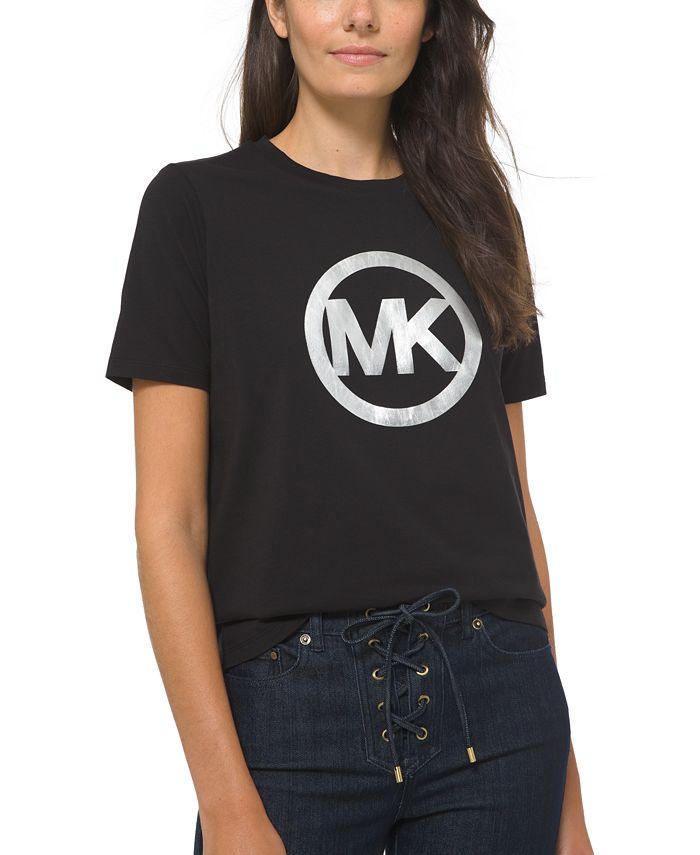 Michael Kors - Petite Cotton Circle-Logo T-Shirt
