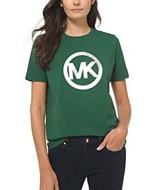 Plus Size Cotton Metallic Logo T-Shirt