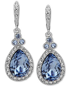 Pavé & Pear-Shaped Crystal Drop Earrings