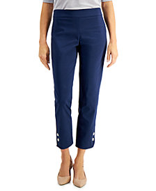 JM Collection Diamonte Tab Pull-On Pants, Created for Macy's