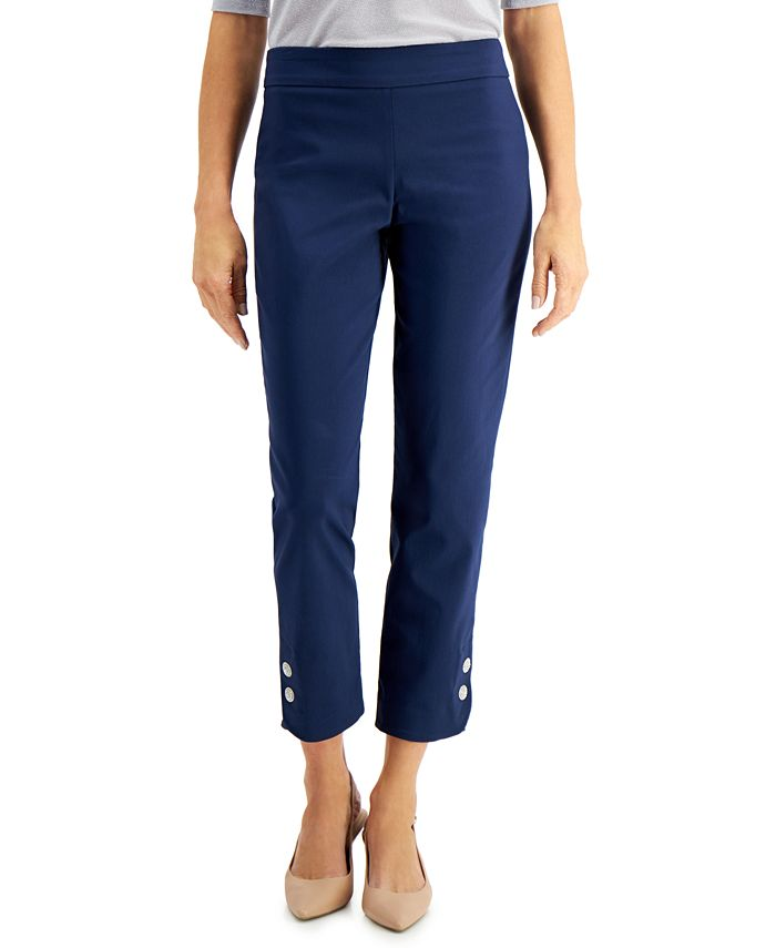 JM Collection - Diamonte Tab Pull-On Pants