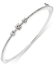 Stone & Crystal Bangle Bracelet