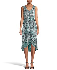 INC Printed High-Low Midi Dress, Created for Macy's