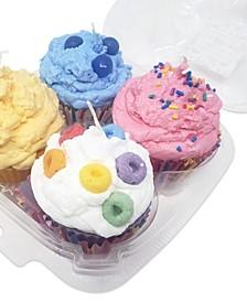Set of 4 Cupcake Candles 5 o.z