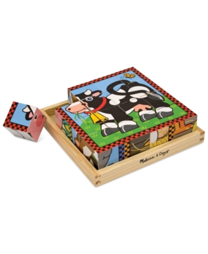 Melissa and Doug Kids Toy Farm Cube Puzzle