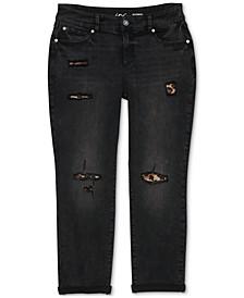 INC Plus Size Rip & Repair Boyfriend Jeans, Created for Macy's