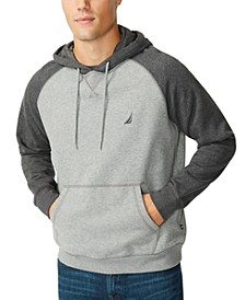 Men's Tonal Raglan Hooded Sweatshirt
