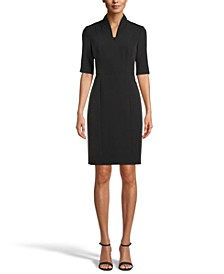 Zip-Front Sheath Dress