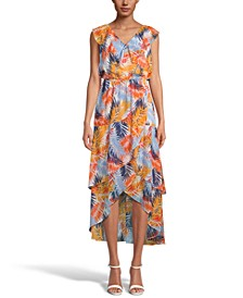INC Printed Tiered Midi Dress, Created for Macy's