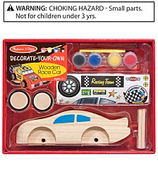 Melissa and Doug Kids Toy, Decorate-Your-Own Wooden Race Car