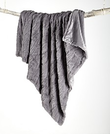 Textured Faux Fur Throw, Created for Macy's