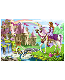 Melissa and Doug Kids Puzzle, Fairy Tale Castle 48-Piece Floor Puzzle