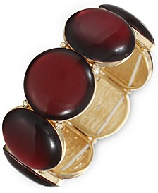 Gold-Tone Resin Stone Stretch Bracelet, Created for Macy's