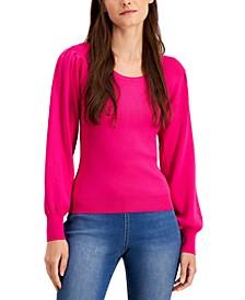 INC Volume-Sleeve Sweater, Created for Macy's