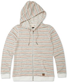 Juniors' Trippin Stripes Striped Hoodie