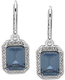 Pavé & Square Stone Drop Earrings