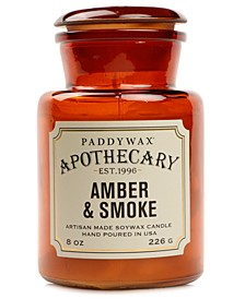 Apothecary Amber & Smoke Glass Candle